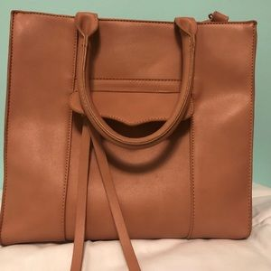 Square bag with cross body option